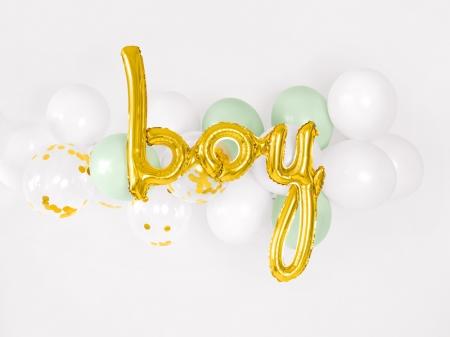 Balon Botez Baieti Folie BOY, auriu, 63.5x74cm0