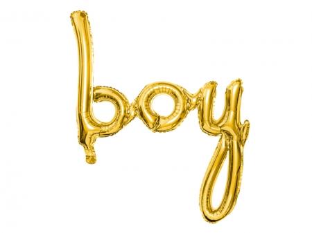 Balon Botez Baieti Folie BOY, auriu, 63.5x74cm3