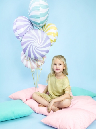 Balon folie Candy, 45cm, lila deschis3