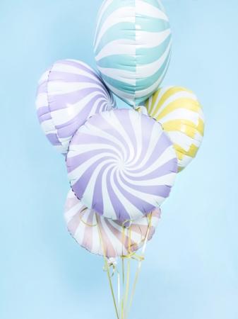 Balon folie Candy, 45cm, lila deschis2