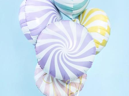Balon folie Candy, 45cm, lila deschis0
