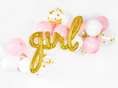 Balon Botez Fetite Folie Girl, auriu, 77x70cm0