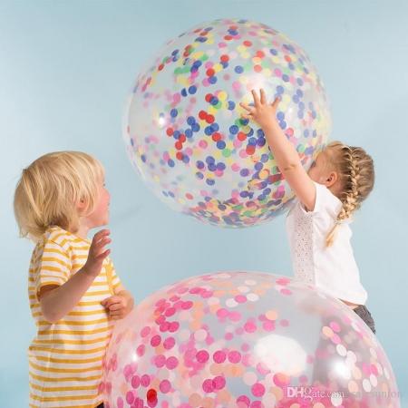 Balon gigant Confetti - 1m diametru, mix3