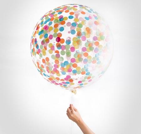 Balon gigant Confetti - 1m diametru, mix2