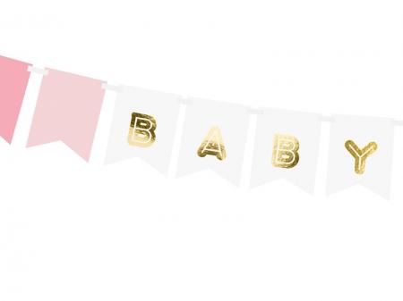 "Banner Botez Fetite ""Baby Girl"", mix, 15 x 175 cm1"
