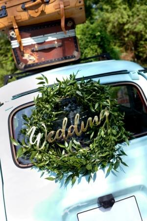 Banner Wedding, auriu, 16.5x45cm1