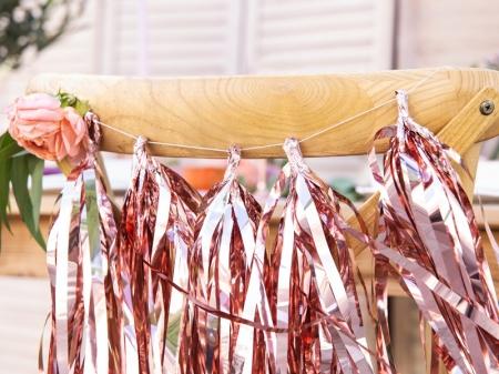 Ghirlanda ciucuri roz auriu, 12 ciucuri, 1.5 m lungime0
