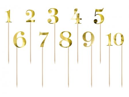 Numere de masa aurii, 25.5-26.5cm (1 pach / 11 buc.)1