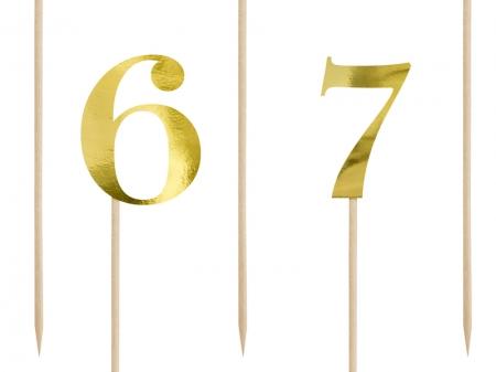 Numere de masa aurii, 25.5-26.5cm (1 pach / 11 buc.)9