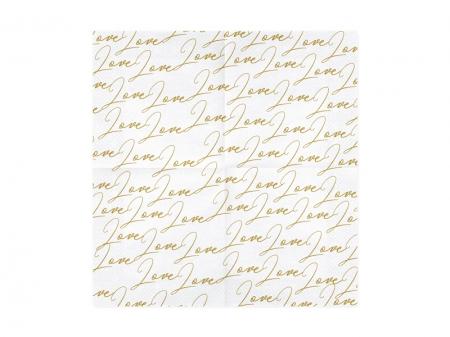 Servetele Love, alb, 33x33cm (1 pach / 20 buc)5