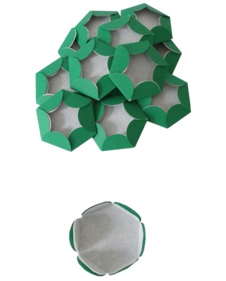 Chese verde Christmas cupcake candy bar set 14 buc [2]