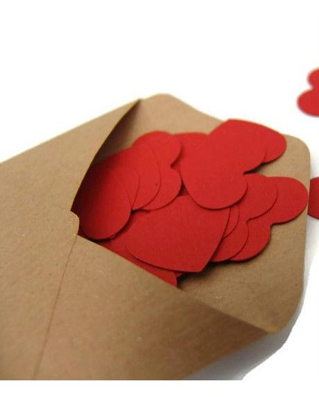 Confetti inimioare rosu grena 2,5 cm set 50 buc 0