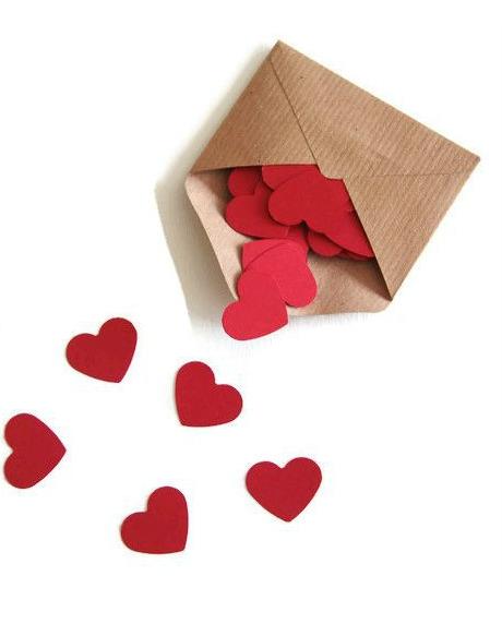 Confetti inimioare rosu grena 2,5 cm set 50 buc 2