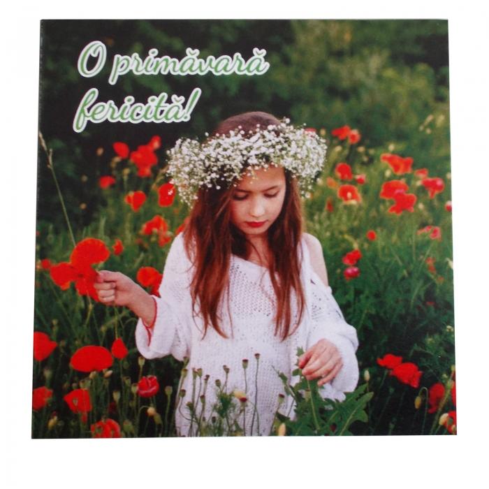 Felicitare martie fata in camp de flori 1