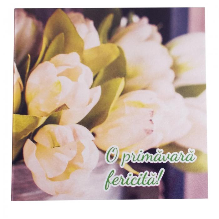 Felicitare martie lalele albe 1