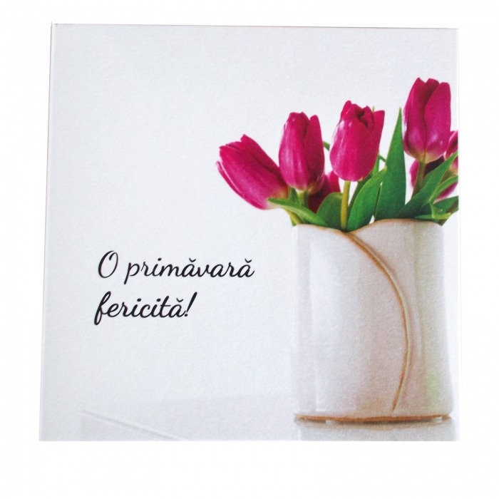 Felicitare martie lalele lila 1