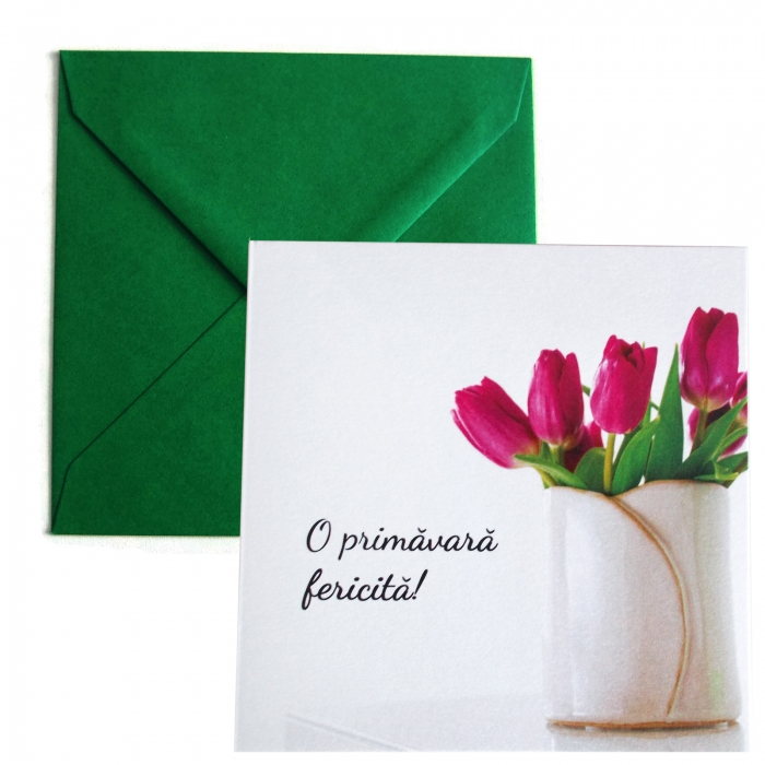 Felicitare martie lalele lila 0