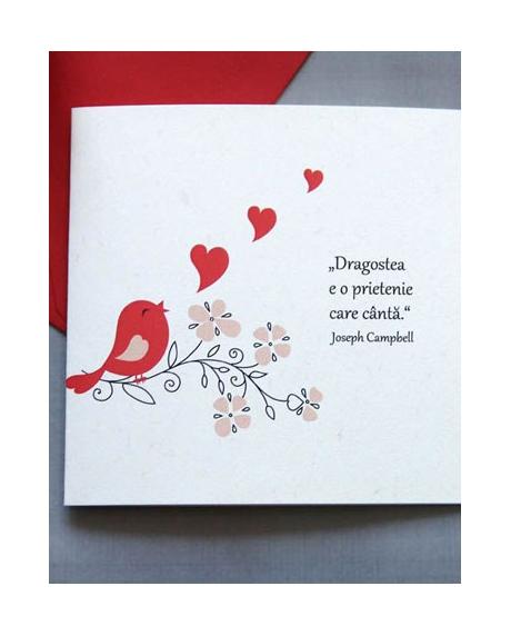 Felicitare Valentine / Dragobete BIRD 0