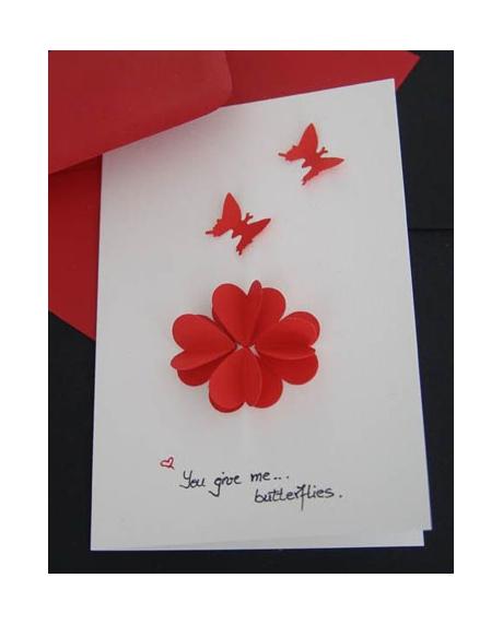 Felicitare Valentine / Dragobete BUTTERFLIES [1]