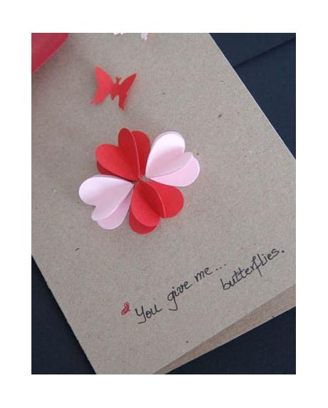 Felicitare Valentine / Dragobete BUTTERFLIES [2]