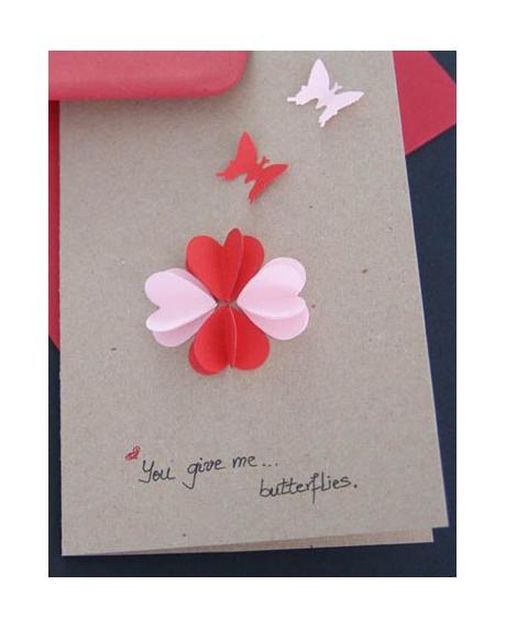 Felicitare Valentine / Dragobete BUTTERFLIES [0]