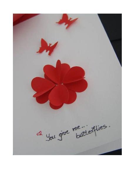 Felicitare Valentine / Dragobete BUTTERFLIES [3]