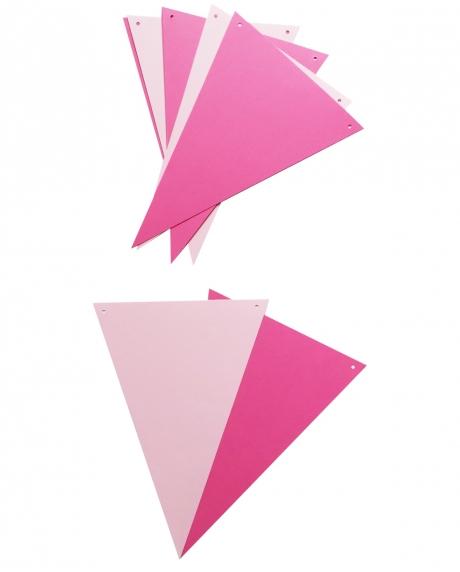 Ghirlanda stegulete roz ciclam si roz pastel 1