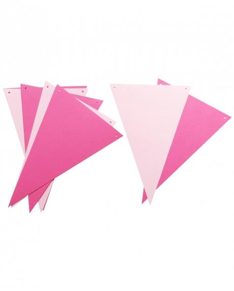 Ghirlanda stegulete roz ciclam si roz pastel 0