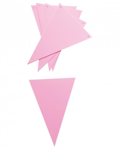 Ghirlanda stegulete roz pastel 1