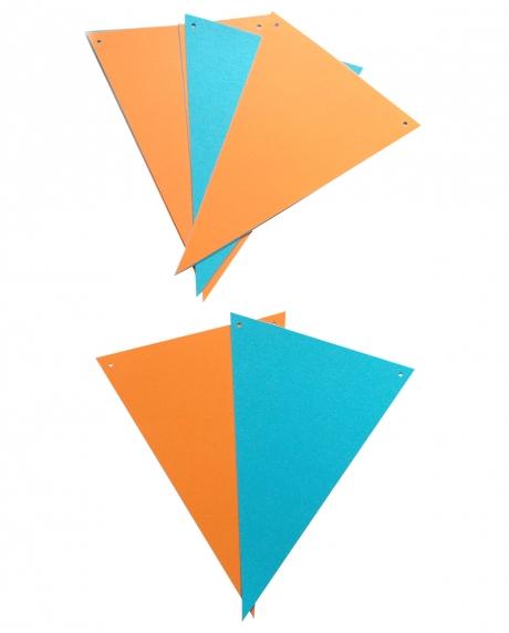 Ghirlanda stegulete somon si bleu 1