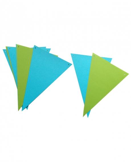 Ghirlanda stegulete verde crud si bleu 0