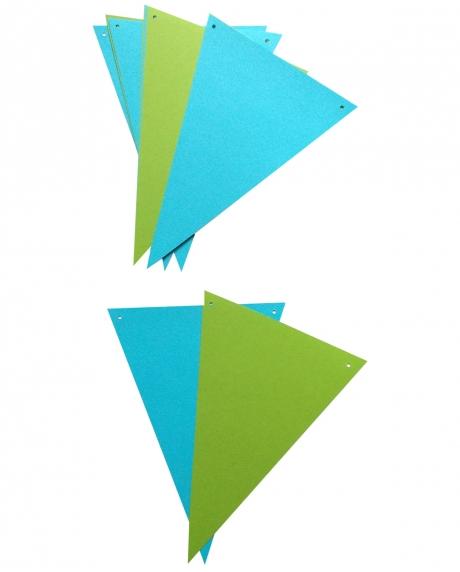 Ghirlanda stegulete verde crud si bleu 1