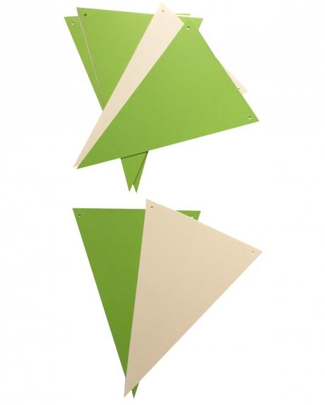 Ghirlanda stegulete verde crud si crem 1