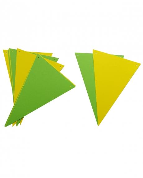 Ghirlanda stegulete verde crud si galben 0