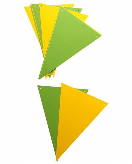 Ghirlanda stegulete verde crud si galben 1