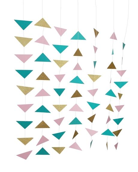 Ghirlanda triunghiuri boho style 0