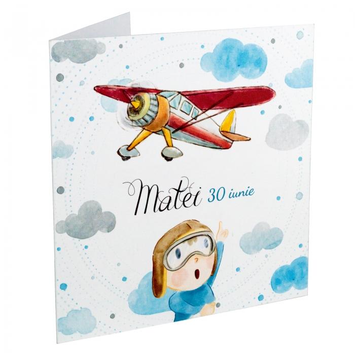Invitatie botez Micul aviator 0