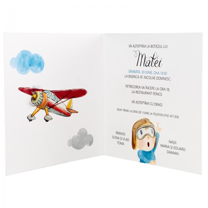 Invitatie botez Micul aviator 5