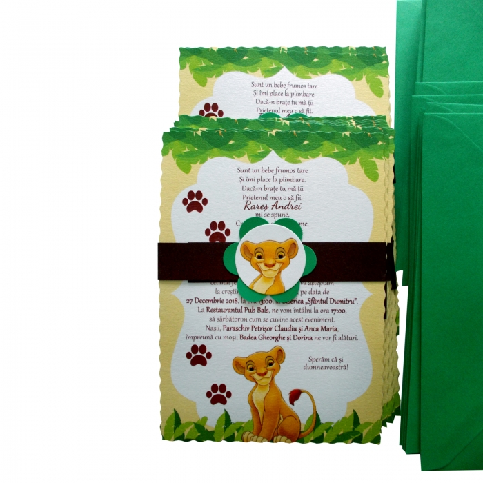 Invitatie botez leu Simba 5
