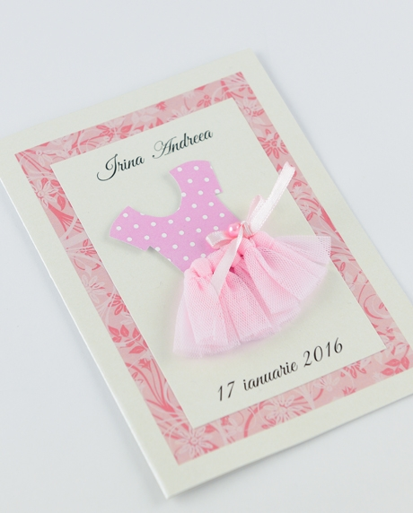 Invitatie botez Mica balerina 3