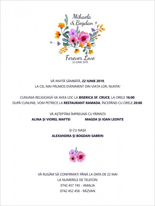 Invitatie electronica nunta Forever Love 0