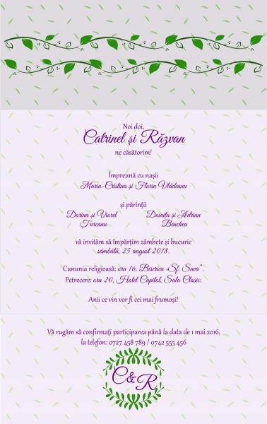 Invitatie electronica nunta iedera 0