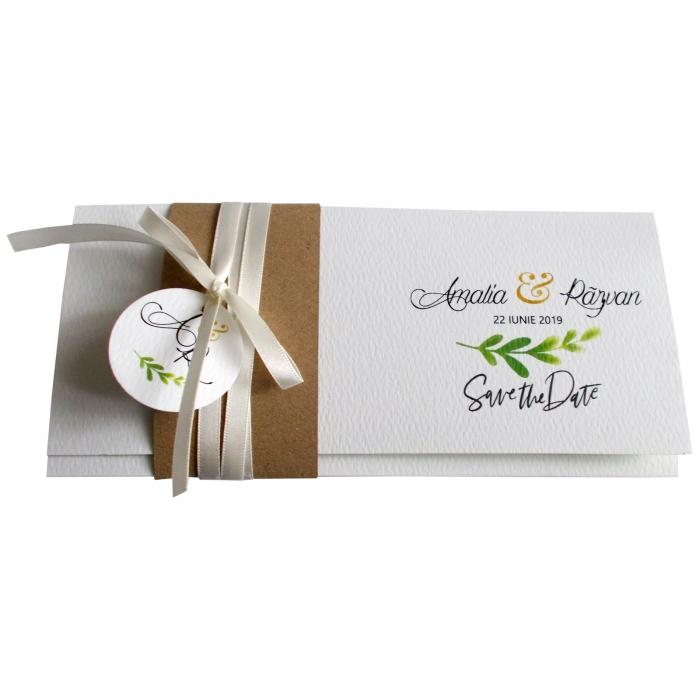 Invitatie nunta frunzulite verzi 2
