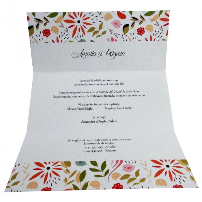 Invitatie nunta pattern floral 1