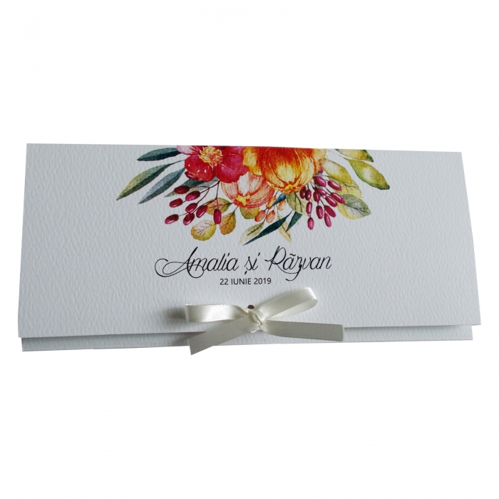 Invitatie nunta flori colorate 2