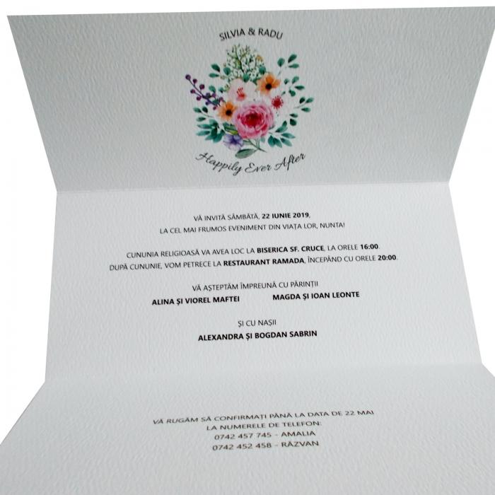Invitatie nunta flori multicolore [1]