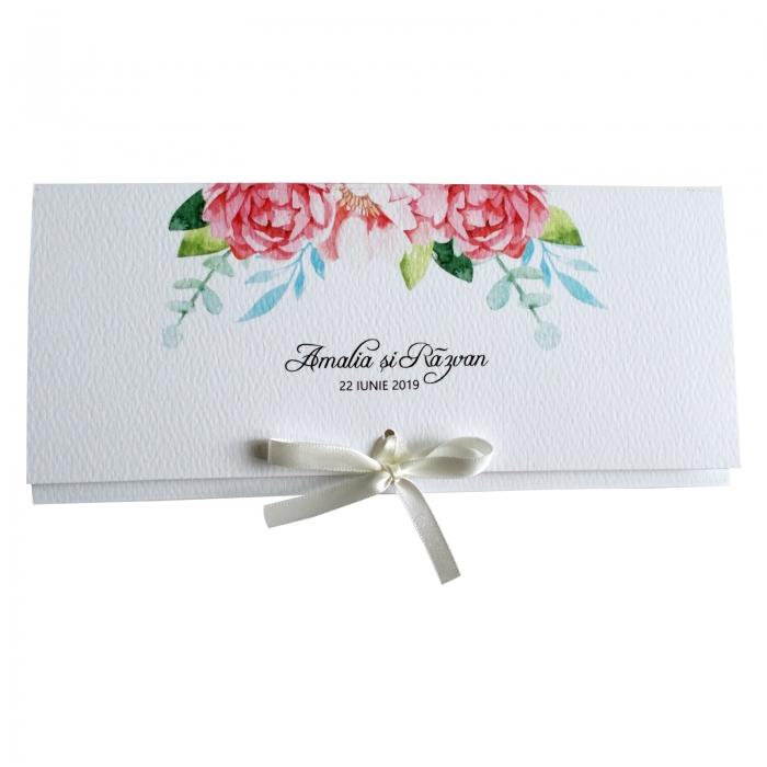 Invitatie nunta flori roz [4]