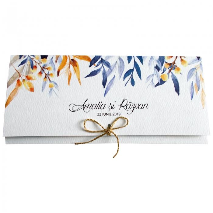 Invitatie nunta frunze colorate 2