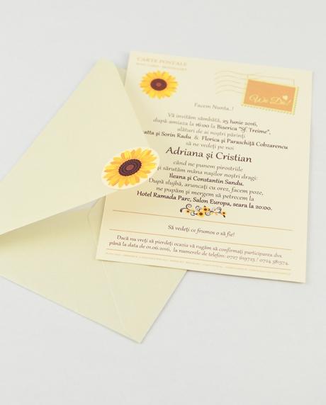 Invitatie nunta tip postcard 12