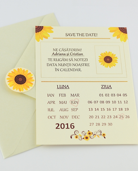 Invitatie nunta tip postcard 3